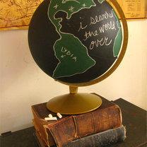 Tablica na globusie