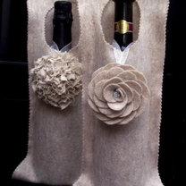 ubranka na butelki z filcu