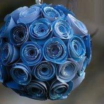 Bombka choinkowa z papieru - róże