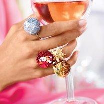 pierścionek z cekinami