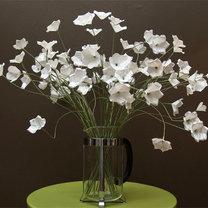 bukiet z papierowych kwiatów
