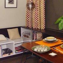 pomarańczowo-zielona dekoracja stołu