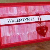 quillingowa kartka na Walentynki