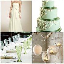dekoracje weselne - odcienie zieleni
