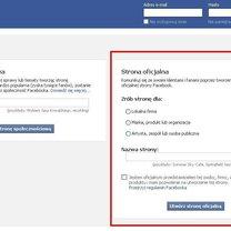 Zakładanie strony na Facebooku 2