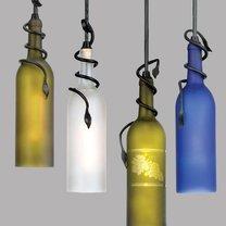 Lampa z butelek - zrób to sam