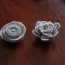kwiaty z filcu - krok 14