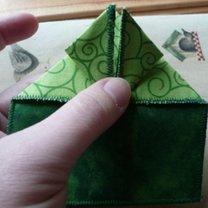 żaba origami - krok 8