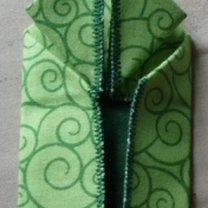 żaba origami - krok 9