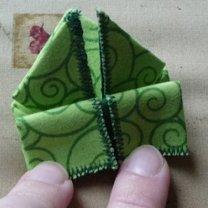żaba origami - krok 11