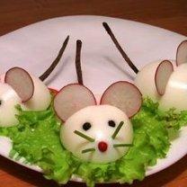 Jajka faszerowane dla dzieci - myszki