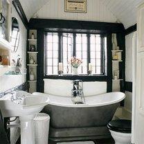 Ciepłe kolory w łazience