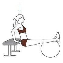 ćwiczenia na piłce gimnastycznej - krok 1