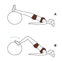 ćwiczenia na piłce gimnastycznej - krok 2