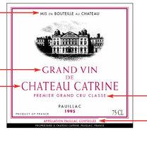 etykieta wina francuskiego