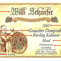 etykieta wina niemieckiego