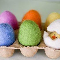 wielkanocne jajka z filcu