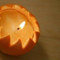 świeczka z pomarańczy