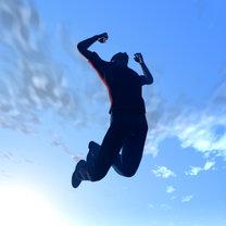 Skaczący mężczyzna