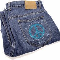 ozdobione jeansy
