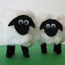 owieczki z rolek po papierze