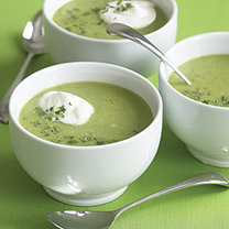 zupa krem z groszku i mięty