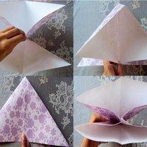 tulipan origami - krok 3