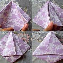 tulipan origami - krok 5