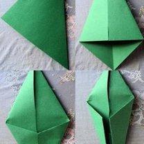 tulipan origami - krok 7
