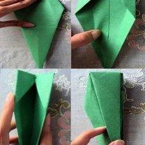 tulipan origami - krok 8