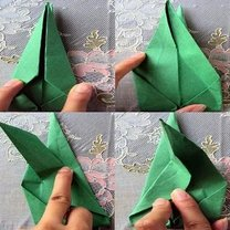 tulipan origami - krok 9