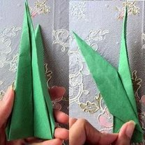 tulipan origami - krok 10