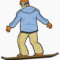 Spadający liść snowboard 1