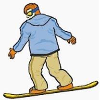 Spadający liść snowboard 2
