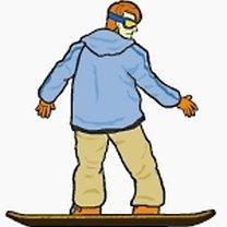 Spadający liść snowboard 3
