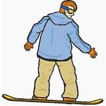 Spadający liść snowboard 4