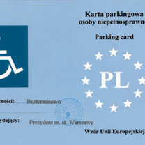 karta parkingowa dla niepełnosprawnych