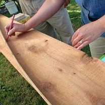 Budowa ławki ogrodowej z pergolą 8
