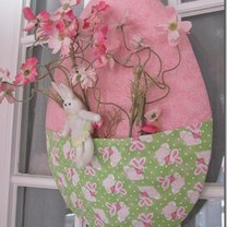 dekoracja wielkanocna na drzwi