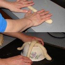 Robienie koszyczka z ciasta 4