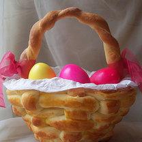 Koszyczek na wielkanoc z chleba