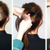 Robienie koka z długich włosów 3