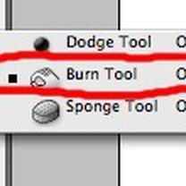 Burn Tool (ściemnianie)