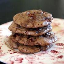 czekoladowe ciasteczka z rabarbarem