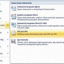 Tworzenie PDF