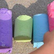 kolorowa kreda