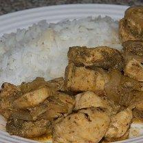Gyros z kurczaka z ryżem