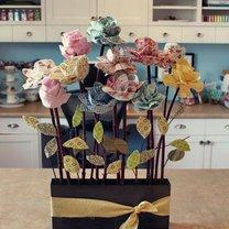 róże z materiału
