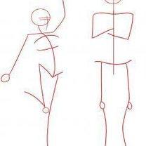 Rysowanie człowieka krok po kroku 1