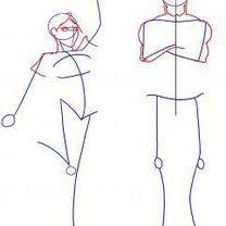 Rysowanie człowieka krok po kroku 2